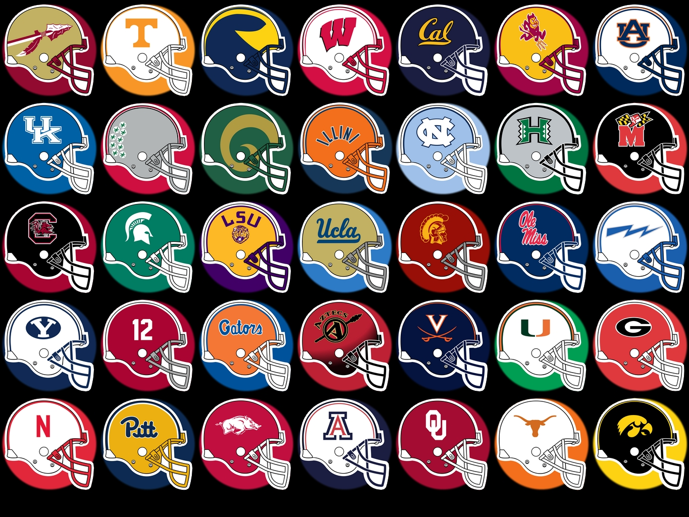 NCAA College Football Team Logos