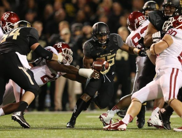 Nov 7, 2013; Waco, TX, USA; Baylor Bears running back Lache Seastrunk