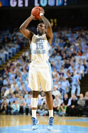 Jan 23, 2013; Chapel Hill, NC, USA; North Carolina Tar Heels guard P.J. Hairston (15) shoots in the second half. The Tar Heels defeated the Yellow Jackets 79-63 at the Dean E. Smith Center. Mandatory Credit: Bob Donnan-USA TODAY Sports