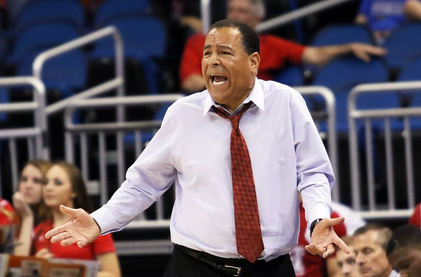 Mar 11, 2016; Orlando, FL, USA; Houston Cougars head coach Kelvin Sampson reacts from the bench in the second half against the Tulane Green Wave during the AAC Tournament at the Amway Center. The Tulane Green Wave won 72-69. Mandatory Credit: Logan Bowles-USA TODAY Sports