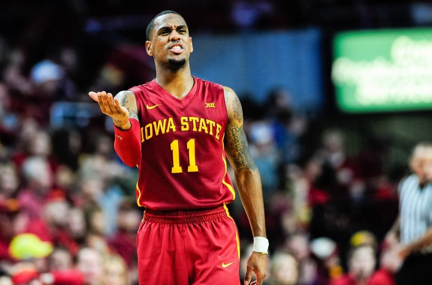 Dec 1, 2016; Ames, IA, USA; Iowa State Cyclones guard Monte Morris (11) reacts during the second half against the Cincinnati Bearcats at James H. Hilton Coliseum. Cincinnati won 55-54. Mandatory Credit: Jeffrey Becker-USA TODAY Sports
