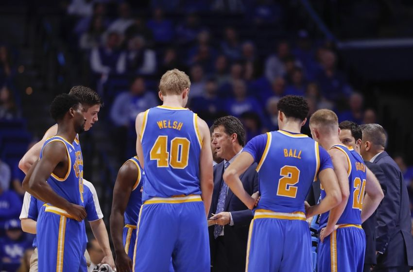 Dec 3, 2016; Lexington, KY, USA; UCLA Bruins head coach Steve Alford talks with his players during the game against the Kentucky Wildcats at Rupp Arena. Mandatory Credit: Mark Zerof-USA TODAY Sports