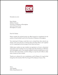 Soccer Coaching Cover Letter