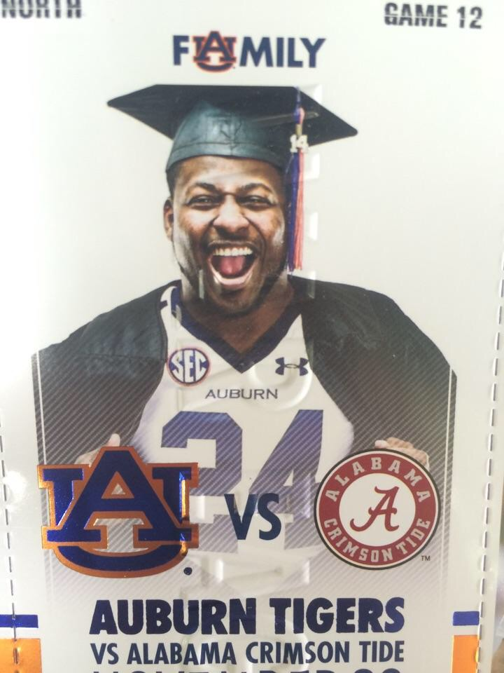 This is the picture auburn put on their iron bowl ticket