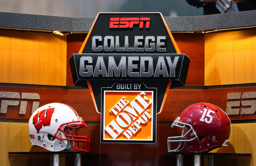 espn college game day football game schedule today