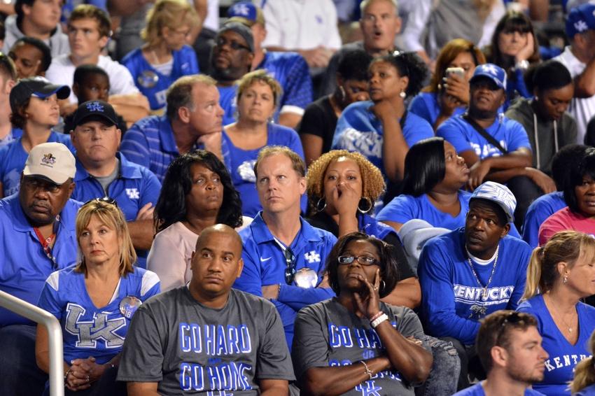 Oct 24  2015  Starkville  MS  USA  Kentucky Wildcats fans watch the