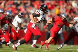 John Lloyd (24) fake punt against Rutgers Scarlet Knights. Photo courtesy Steve Lloyd.