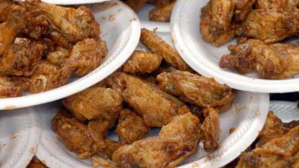 "Football Fans And Competitive Eaters Attend Annual ""Wing Bowl"""