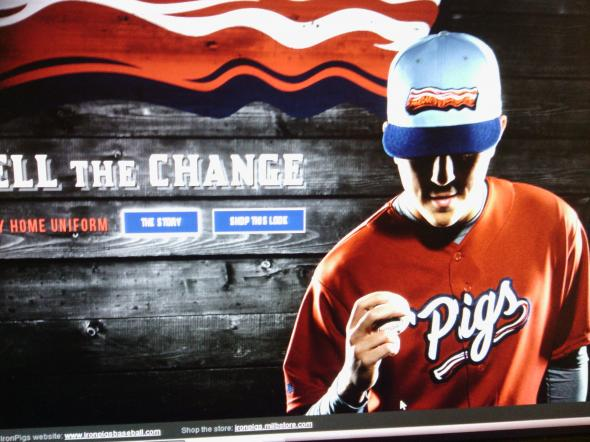 Credit to the Lehigh Valley Ironpigs for this image.