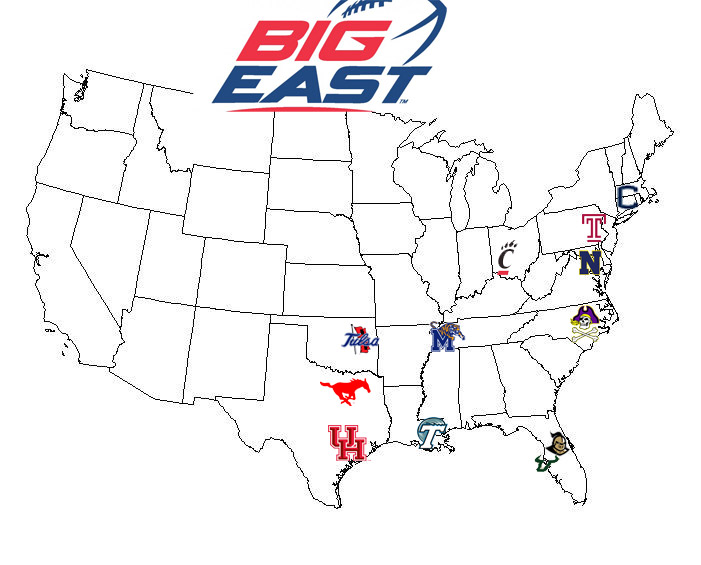 The Big East's member breakdown in 2015 is currently Cincinnati
