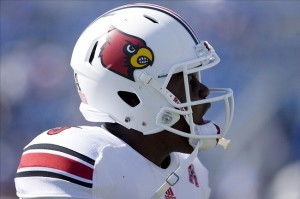 Sep 14, 2013; Lexington, KY, USA; Louisville Cardinals quarterback Teddy Bridgewater (5) before the game against the Kentucky Wildcats at Commonwealth Stadium. Mandatory Credit: Mark Zerof-USA TODAY Sports