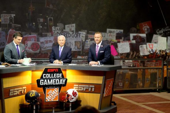 Kirk herbstreit lee corso rece davis ncaa football college game day