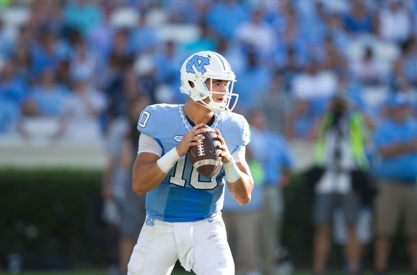 Sep 24, 2016; Chapel Hill, NC, USA; North Carolina Tar Heels quarterback Mitch Trubisky (10) during the game against the Pittsburgh Panthers at Kenan Memorial Stadium. Mandatory Credit: Jeremy Brevard-USA TODAY Sports