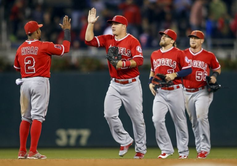 Erick-aybar-mike-trout-mlb-los-angeles-angels-minnesota-twins-game-two-768x0