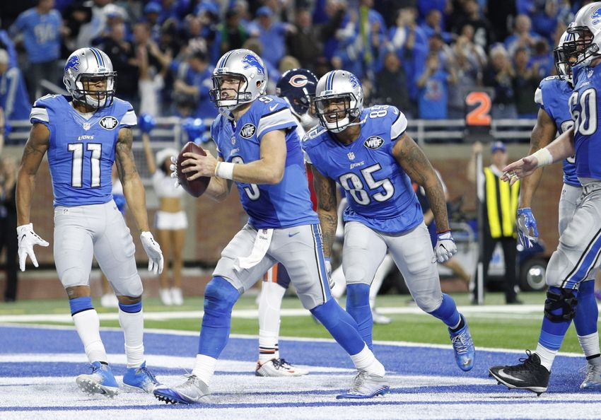 Stafford runs for go-ahead TD in Lions' 20-17 win over Bears