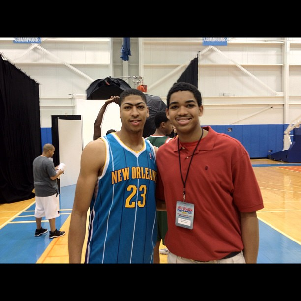 Photo courtesy of Karl Towns Jr's twitter account: @KATis32