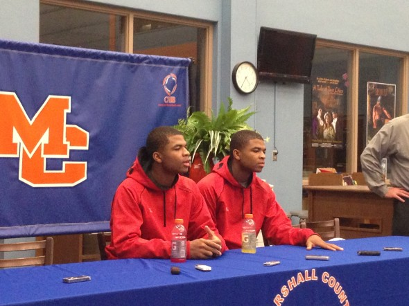Aaron and Andrew Harrison Press Conference at the Marshall County Hoopfest
