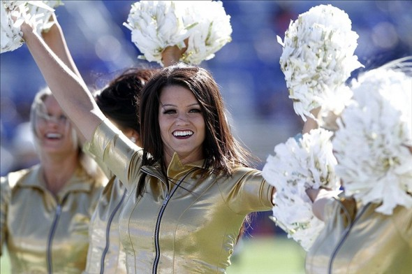 Nov 9, 2013; Lexington, KY, USA; Missouri Tigers cheerleader before the game against the Kentucky Wildcats at Commonwealth Stadium. Mandatory Credit: Mark Zerof-USA TODAY Sports
