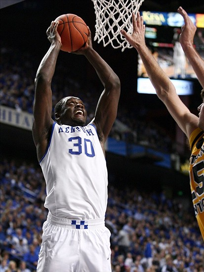 Nov 10, 2013; Lexington, KY, USA; Kentucky Wildcats forward Julius Randle (30) goes up for a dunk agaisnt the Northern Kentucky Norse at Rupp Arena.Kentucky defeated Northern Kentucky 93-63. Mandatory Credit: Mark Zerof-USA TODAY Sports