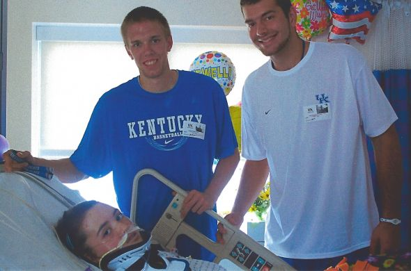 July 2010 Myself, Jon Hood, and Josh Harrellson in the University of Kentucky Children's Hospital