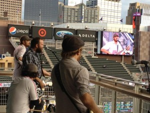 The 4onthefloor perform at Target Field, September 7, 2012