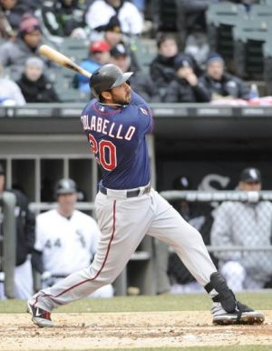 Chris Colabello hits a two-RBI double. Photo Credit: David Banks-USA TODAY Sports