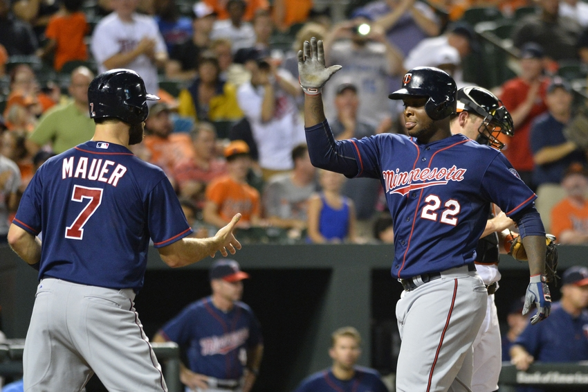 Miguel-sano-joe-mauer-mlb-minnesota-twins-baltimore-orioles