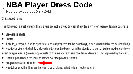 The NBA's silly dress code