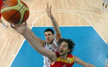 "Pau Gasol participates in the summer European ""Eurobasket"" tournament"