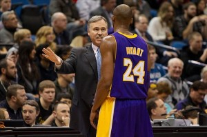 Feb 1, 2013; Minneapolis, MN, USA; Los Angeles Lakers head coach Mike D