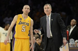 Apr 12, 2013; Los Angeles, CA, USA; Los Angeles Lakers head coach Mike D