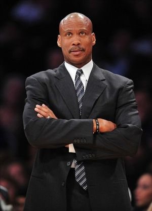 January 13, 2013; Los Angeles, CA, USA; Cleveland Cavaliers head coach Byron Scott watches game action against the Los Angeles Lakers during the second half at Staples Center. Mandatory Credit: Gary A. Vasquez-USA TODAY Sports