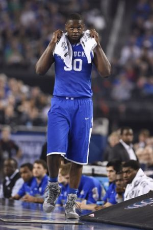 Apr 7, 2014; Arlington, TX, USA; Kentucky Wildcats forward Julius Randle (30) reacts on the sideline against the Connecticut Huskies in the second half during the championship game of the Final Four in the 2014 NCAA Mens Division I Championship tournament at AT&T Stadium. Mandatory Credit: Bob Donnan-USA TODAY Sports