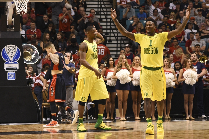 Elgin-cook-jordan-bell-gabe-york-ncaa-basketball-pac-12-conference-tournament-arizona-vs-oregon