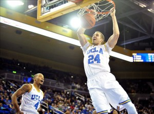 December 14, 2013; Los Angeles, CA, USA; UCLA Bruins forward Travis Wear (24) dunks to score a basket against the Prairie View A