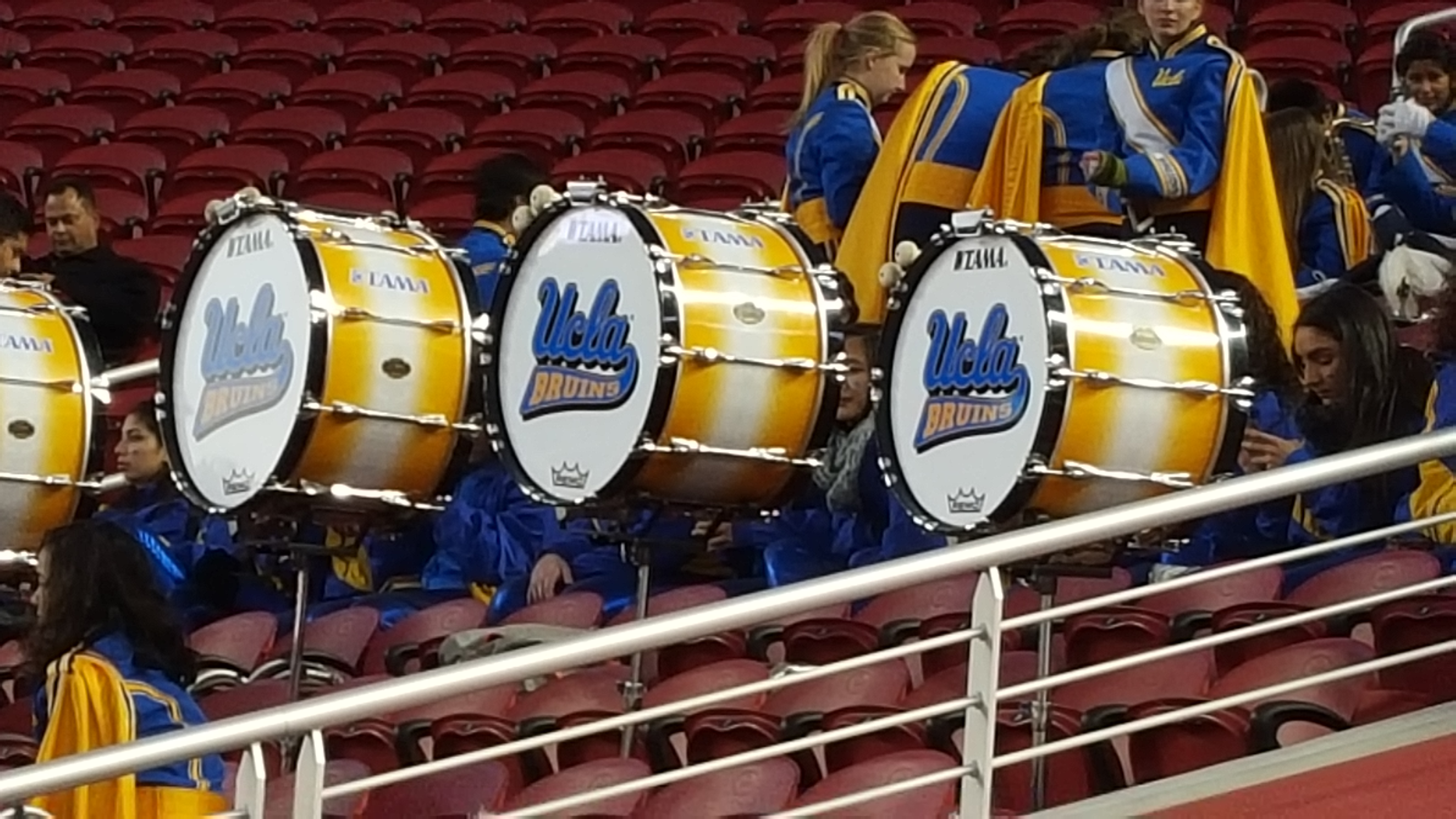 ucla football foster farms bowl photo essay page 3 ucla ing band drum line before the 2015 foster farms bowl levi s stadium santa