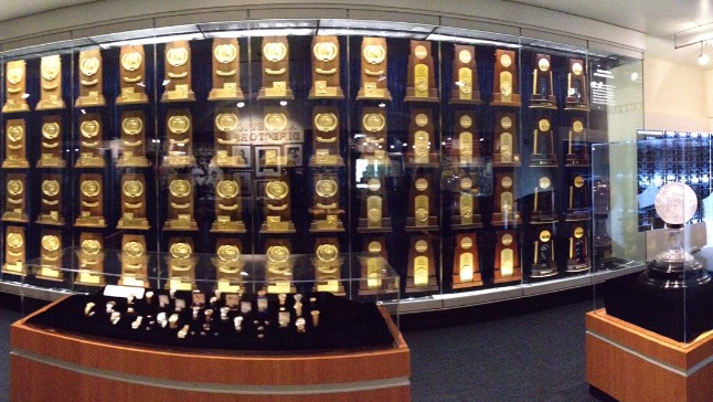 UCLA Trophy Room at the Morgan Center Photo By Mike Regalado