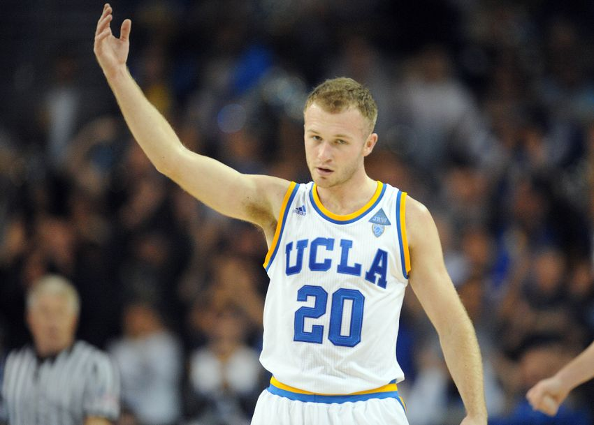 December 10, 2016; Los Angeles, CA, USA; UCLA Bruins guard Bryce Alford (20) reacts after a scoring play against the Michigan Wolverines during the second half at Pauley Pavilion. Mandatory Credit: Gary A. Vasquez-USA TODAY Sports