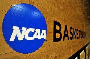 Mar 20, 2012; Nashville, TN, USA; A general view of the NCAA logo prior to the second round game of the 2012 NCAA women