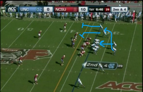This image was a screenshot of the ACC Network game broadcast