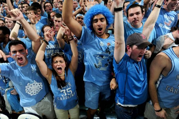 Unc Basketball Student Section Does Tomahawk Chop
