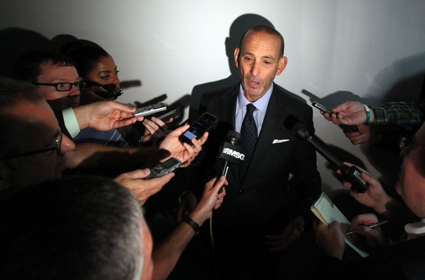MLS Commissioner talks MLS CBA with reporters