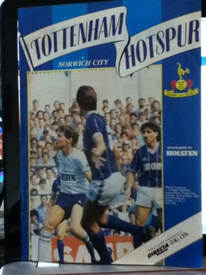 Spurs v Norwich programme [Photo: Alan Hill]