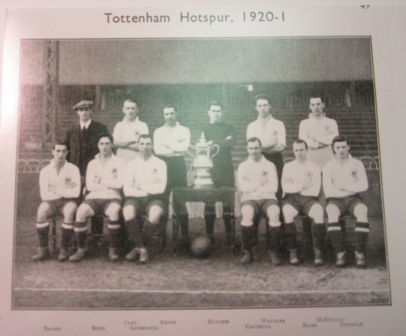Tottenham's 1921 FA Cup wining team [Photo: Logan Holmes]