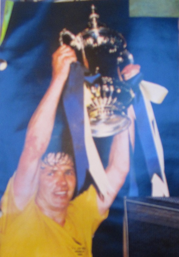 Steve Perryman lifts the 1982 FA Cup Photo: [Logan Holmes]