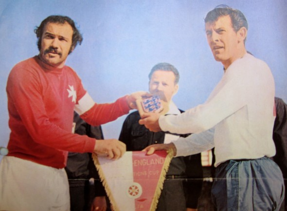Alan Mullery captained England in Malta in 1971 [Photo: Logan Holmes]