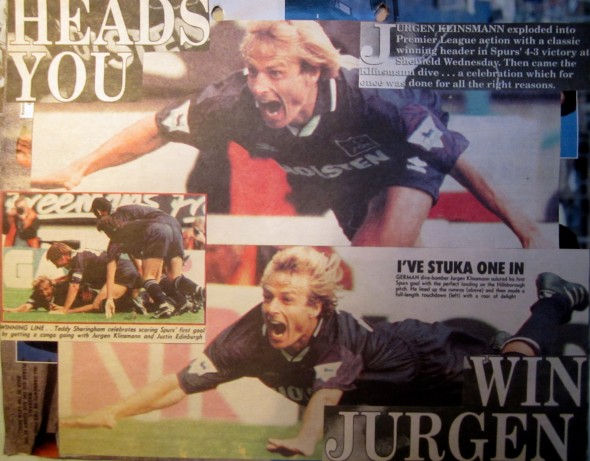 The Klinsmann celebration [Photo: Logan Holmes]
