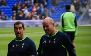 Goalkeeping coach, Tony Parks and Brad Friedel - penalty shoot-out heroes [Photo: Jav The_DoC_66]