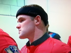 Rooney with his padded headband [Photo: Alan Hill]