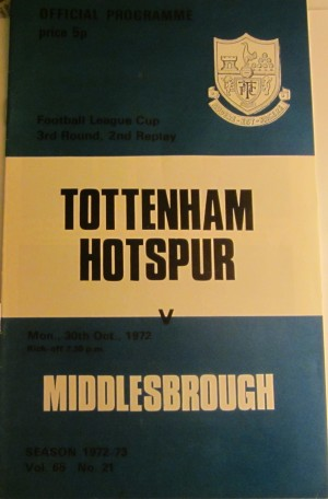 1972 Spurs v Middlesbrough [Photo: Logan Holmes]